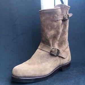 FRYE men's mid calf suede boots
